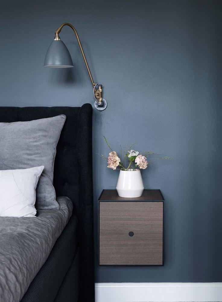 Photo of Bedside table with simple shapes