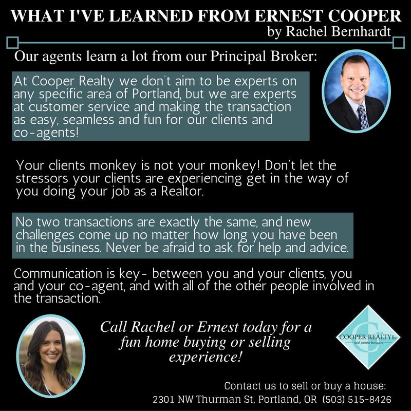 Our Principal Broker Ernest Cooper Excels At Mentoring New