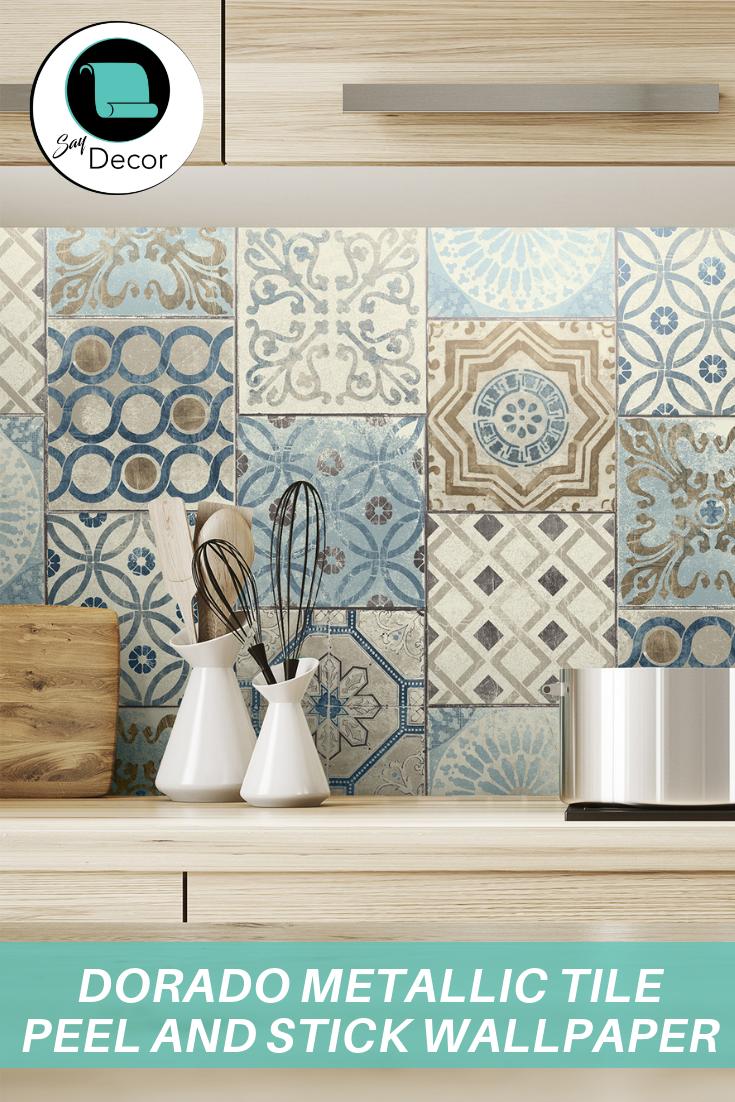Algarve Peel And Stick Backsplash Wallpaper Backsplash Kitchen Peel N Stick Backsplash Vinyl Wall Panels