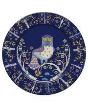 Iittala Taika 30 cm matala vati/lautanen sinisenä 27,90 e Tätä sarjaa on tarkoitus alkaa keräillä lisää.