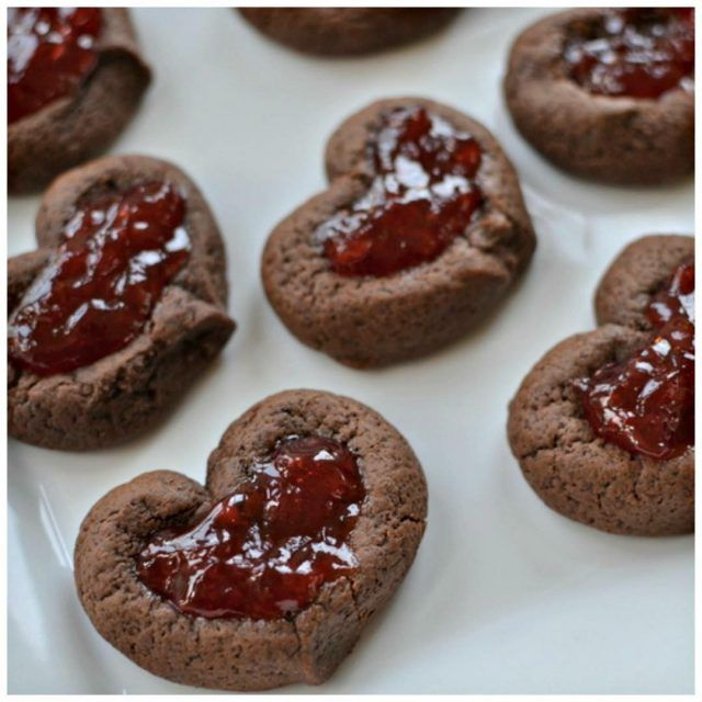 Put these Valentine Chocolate Strawberry Thumbprint Cookies on your listhellip