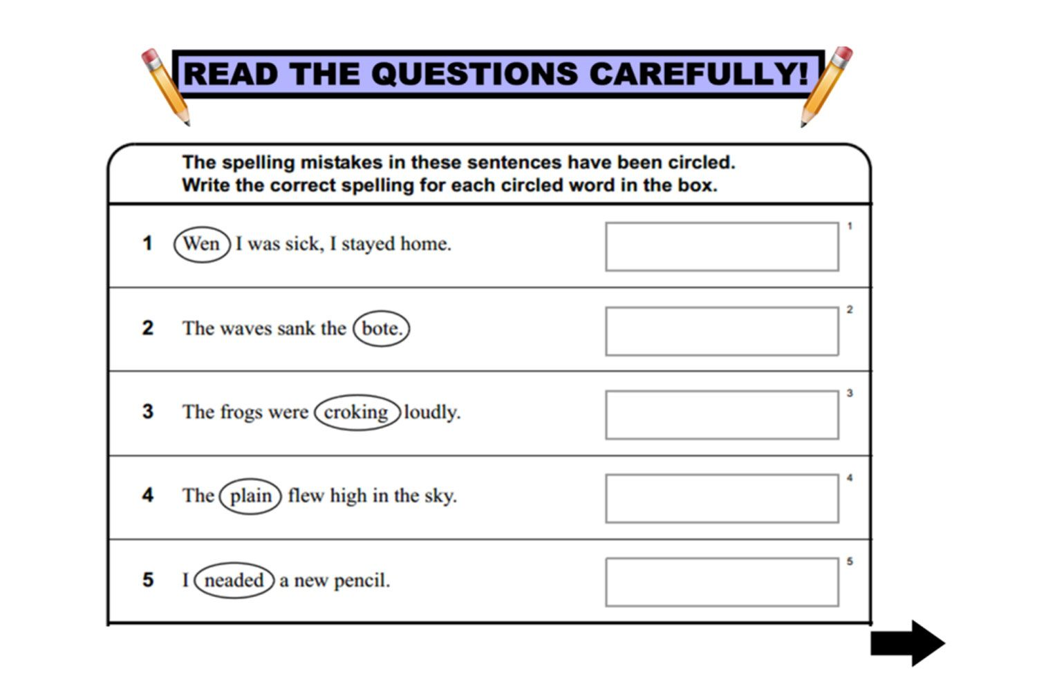 Year 3 NAPLAN Language Conventions practice questions for IWB http ...