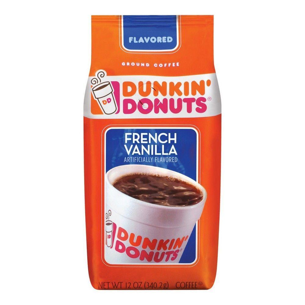 Dunkin donuts french vanilla flavored ground coffee 12oz