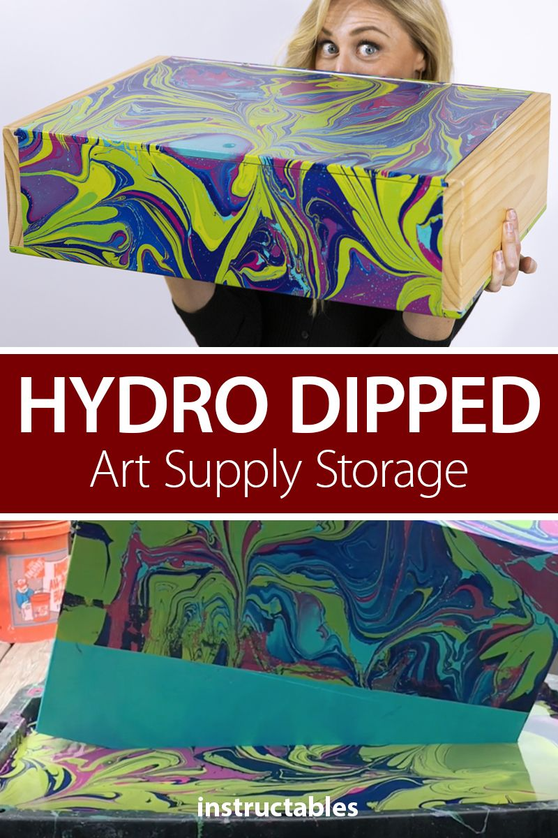 Hydro Dipped Art Supply Storage In 2020 Art Supplies Storage Hydro Wine Gift Boxes