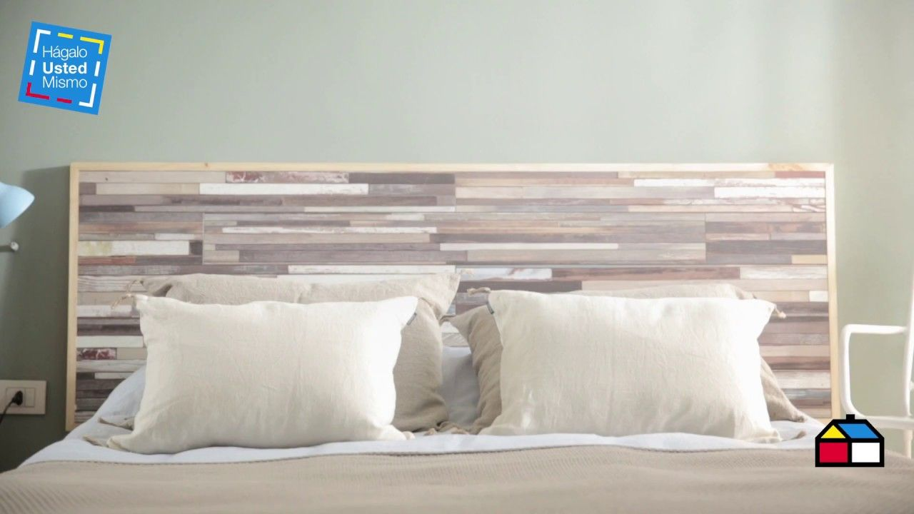 Cómo hacer un respaldo de cama con piso flotante? | Cabecera cama ...