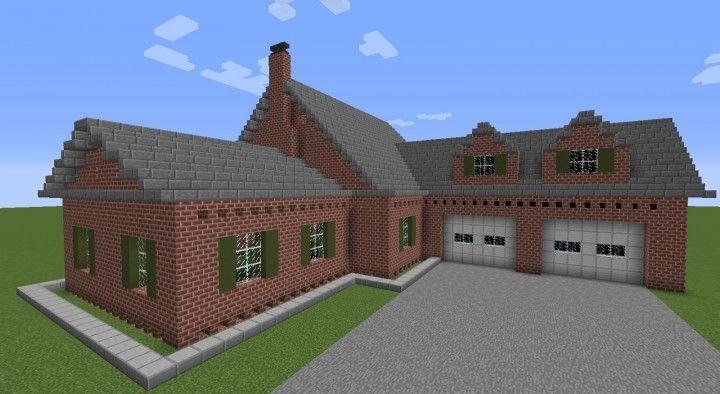 Brick Mansion Minecraft Map Minecraft Mansion Minecraft