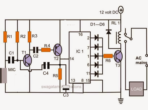 Electronic Circuit Projects: Make a Simple Electronic Clap Switch ...