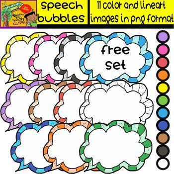 Teacher Appreciation Week - Free Clipart Set - Speech ...