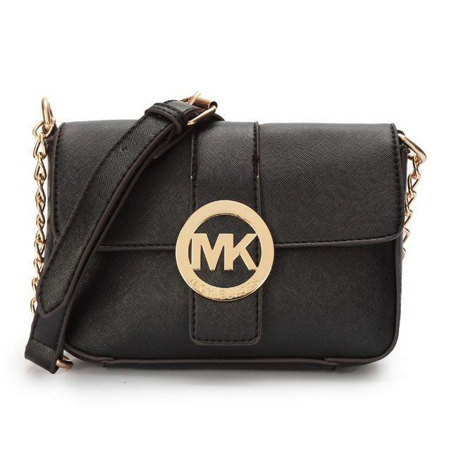Fashion Icon! Michael Kors Fulton Messenger Small Black Crossbody Bags - Don't miss out.$64.99