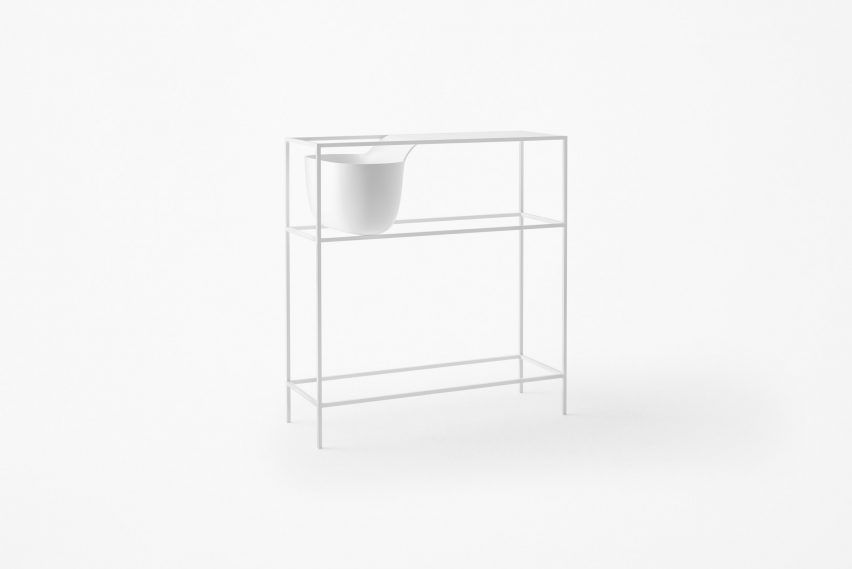 Tabletops melt into bowls in Nendo's new furniture collection, which will make its debut at Milan design week.
