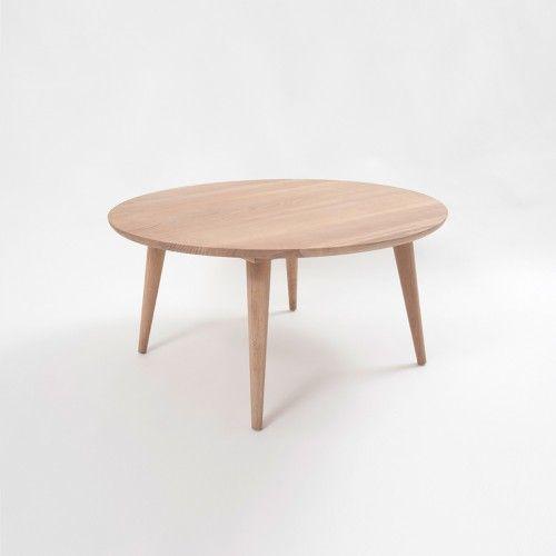 Oskar Round Coffee Table - American Oak