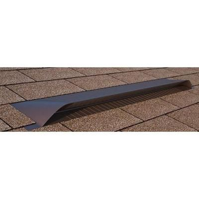 Aluminum Off Ridge Roof Vent in Brown Powder Coat  Brown Tan  Roof VentsHome  DepotPowder. If you need attic ventilation  installing a continuous ridge vent
