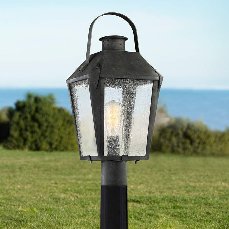 Quoizel Carriage 21 3 4 H Mottled Black Outdoor Post Light 19w25 Lamps Plus In 2020 Outdoor Post Lights Post Lights Lamp Post Lights