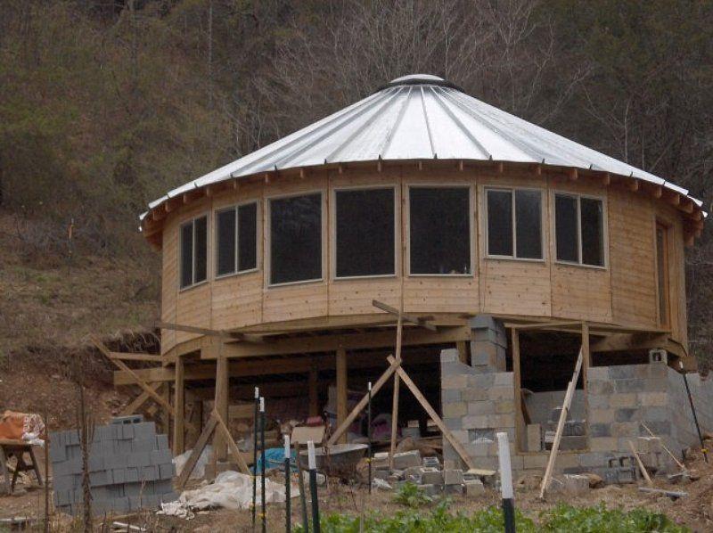 Smiling wood yurts galleries cocinas pinterest - Casas de madera redondas ...