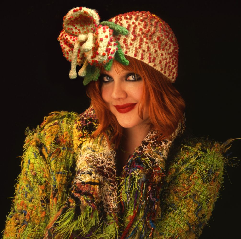 Louda Collection hand crocheted hat and hand-made coat. Photography: Gilles Larrain (www.gilleslarrain...), Model: Christine Albertson