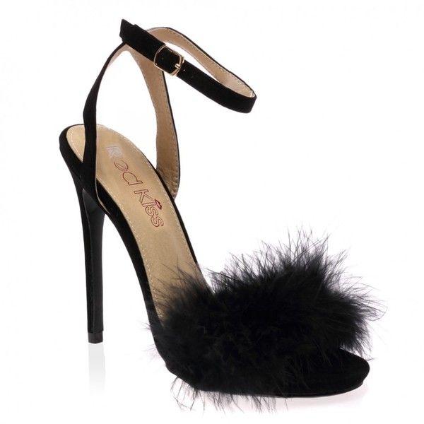 Faux suede shoes, Black sandals heels