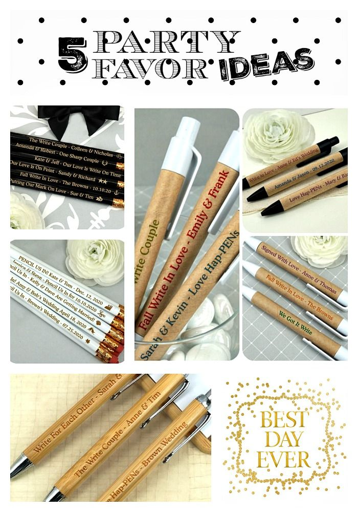 Party Favors Wedding For Guests Supplies Personalized Pencils Pens