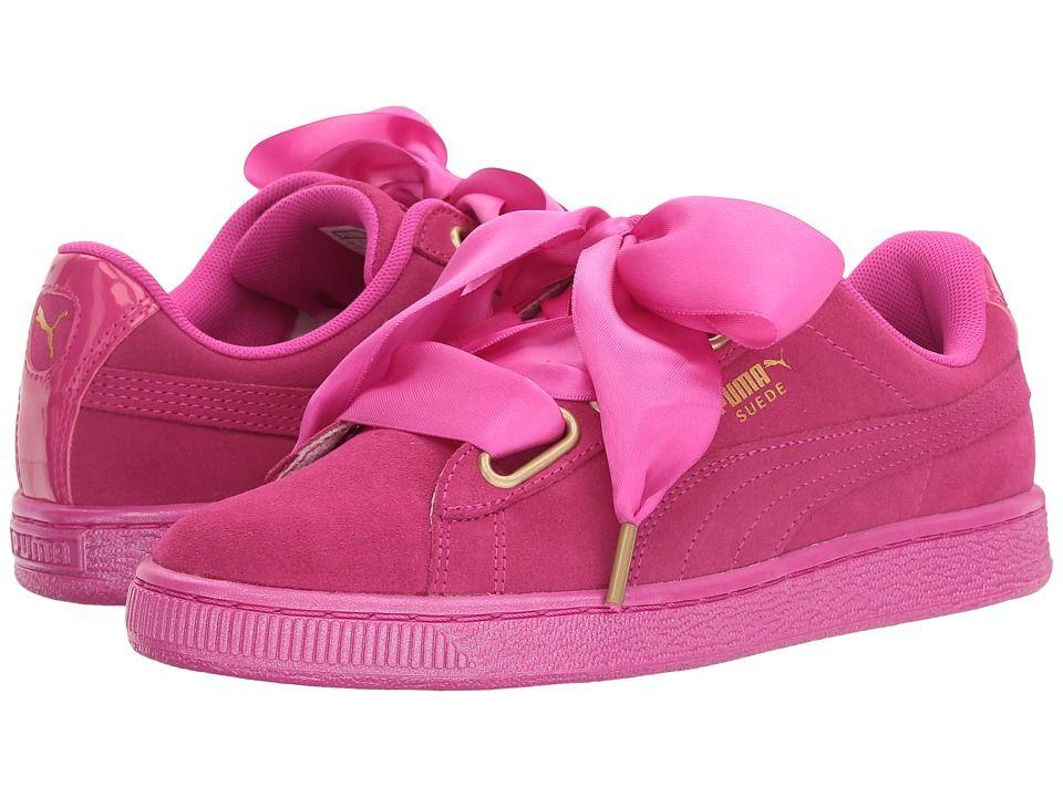 PUMA Suede Heart Satin Women's Shoes Ultra MagentaUltra