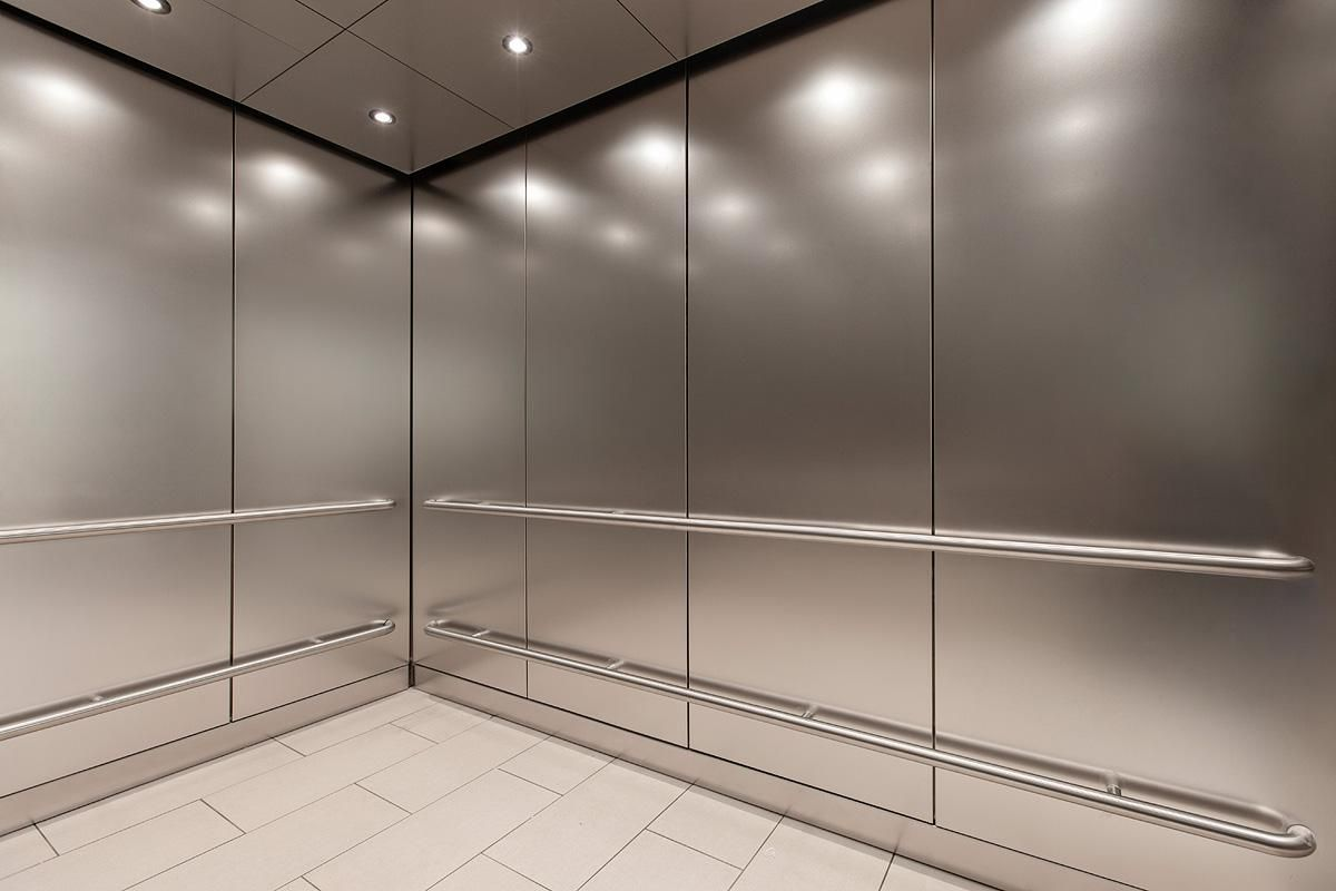 Cabforms 1000 A Elevator Interior In Stainless Steel With Seastone