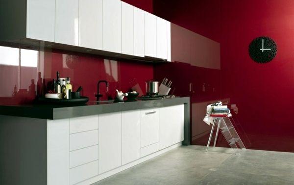 Modern glass kitchen splash back wall designs offer
