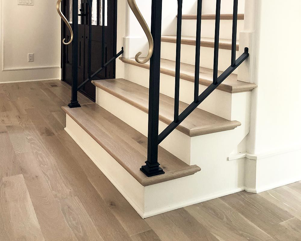 Best Cerused Stair Treads Stair Treads Stairs Hardwood Floors 640 x 480