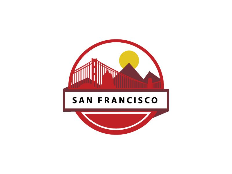 25 Flat Logo Designs For Your Inspiration - San Francisco