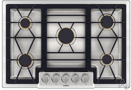 Gaggenau Cg280210ca 30 Gas Cooktop With 5 Sealed Brass Burners 47 200 Combined Btu Continuous Cast Iron Grates Profession Gas Cooktop Cooktop Gas Stove Top