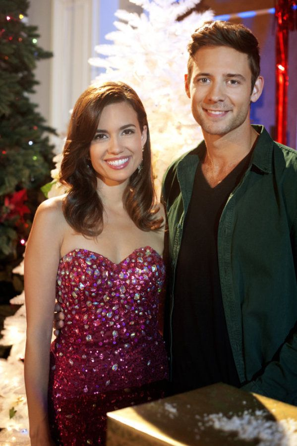 Check Out Photos From The Hallmark Channel Original Movie Best Christmas Party Ever Starring Torrey Devitt Torrey Devitto Strapless Dress Formal Good Movies