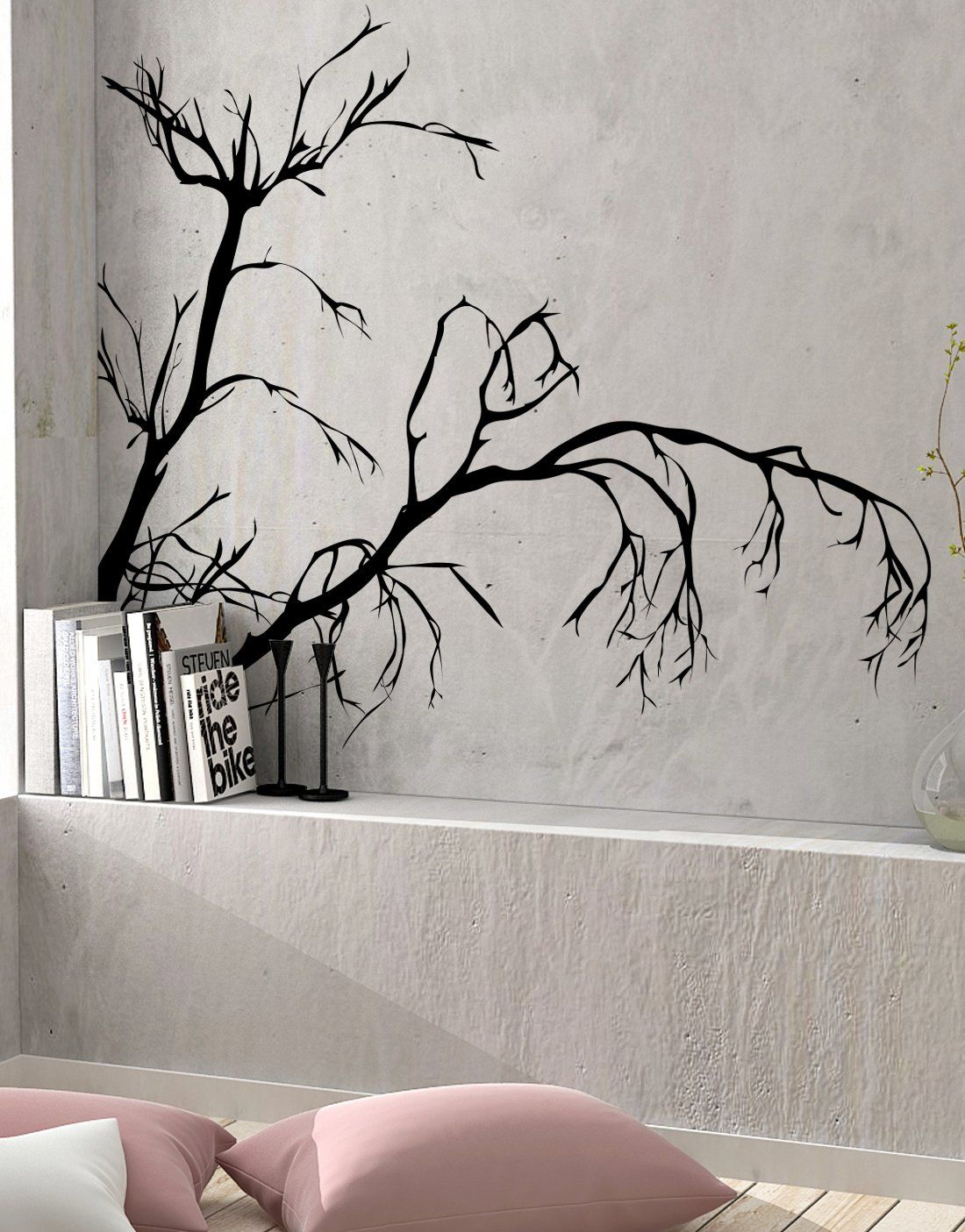Weeping Tree Branches Vinyl Wall Decal Ac147 Vinyl Wall Decals Wall Decals Tree Branches