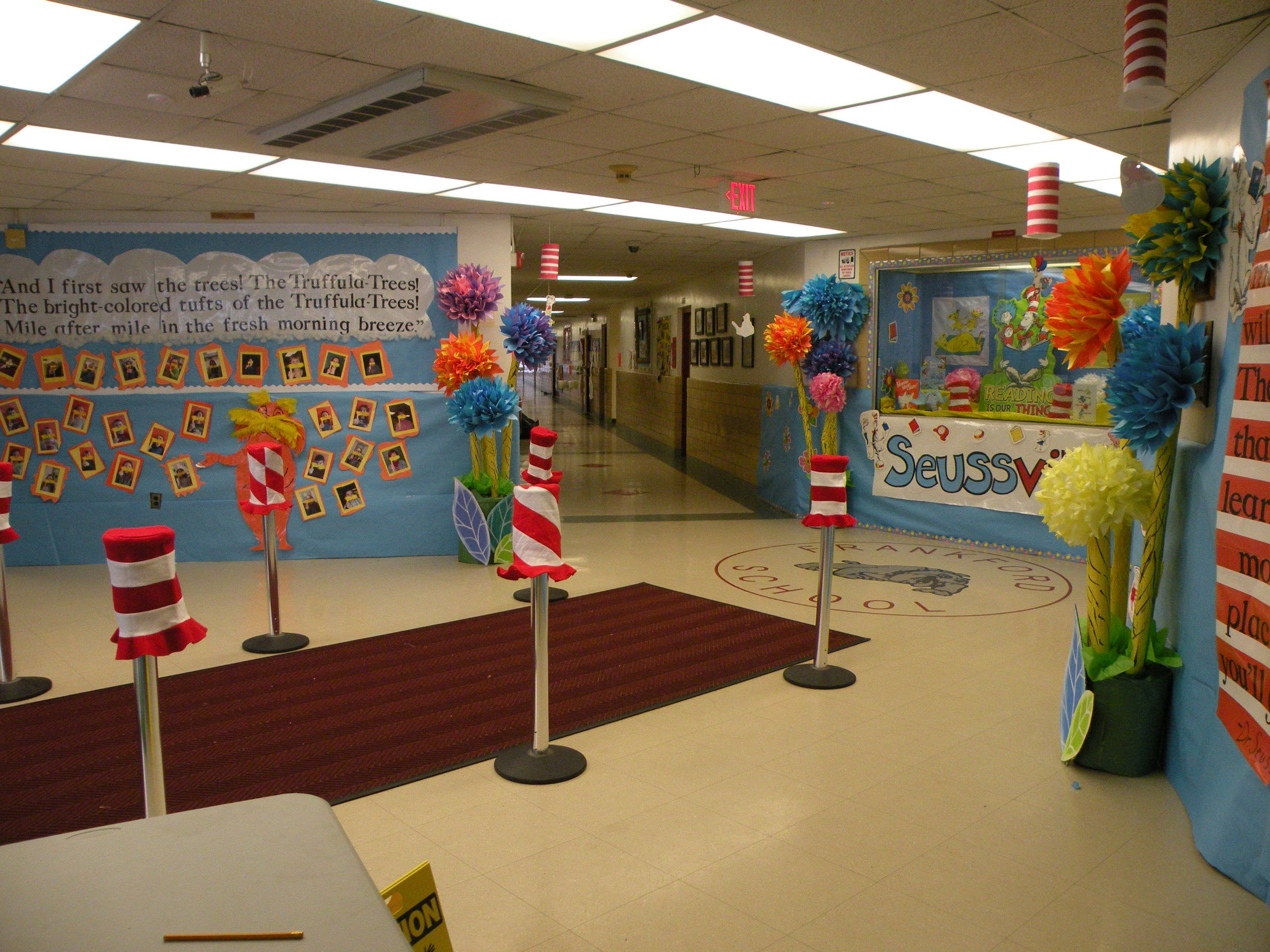 Lobby Decoration Ideas Seussville Decorations In School Lobby Dr Seuss And