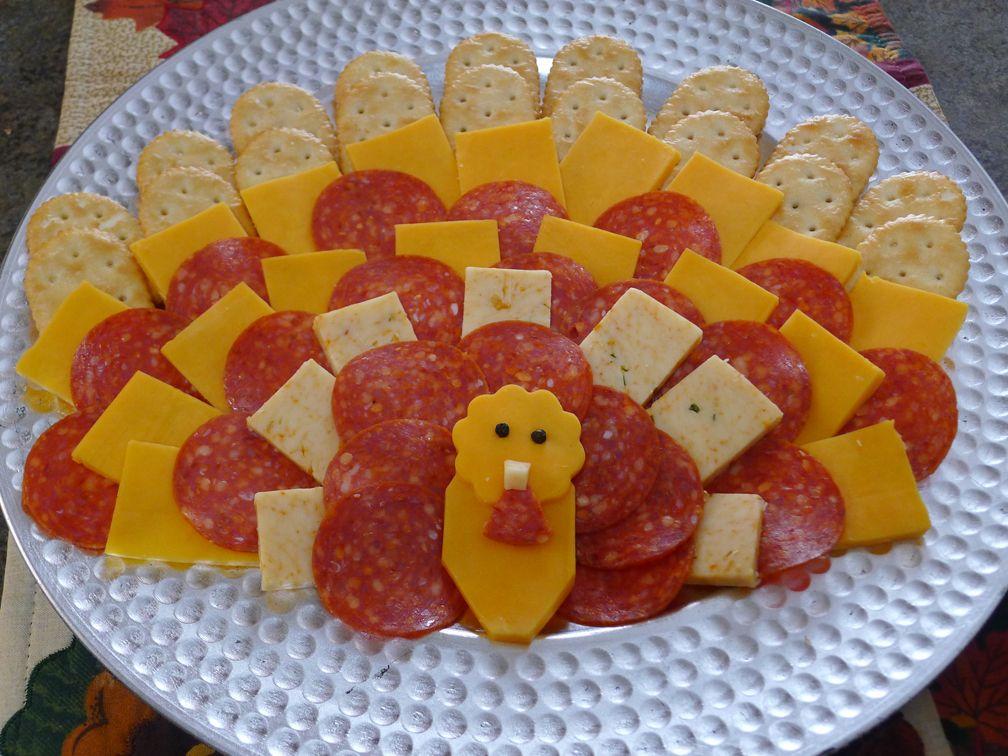 Turkey Cheese Platter Thanksgiving Appetizer