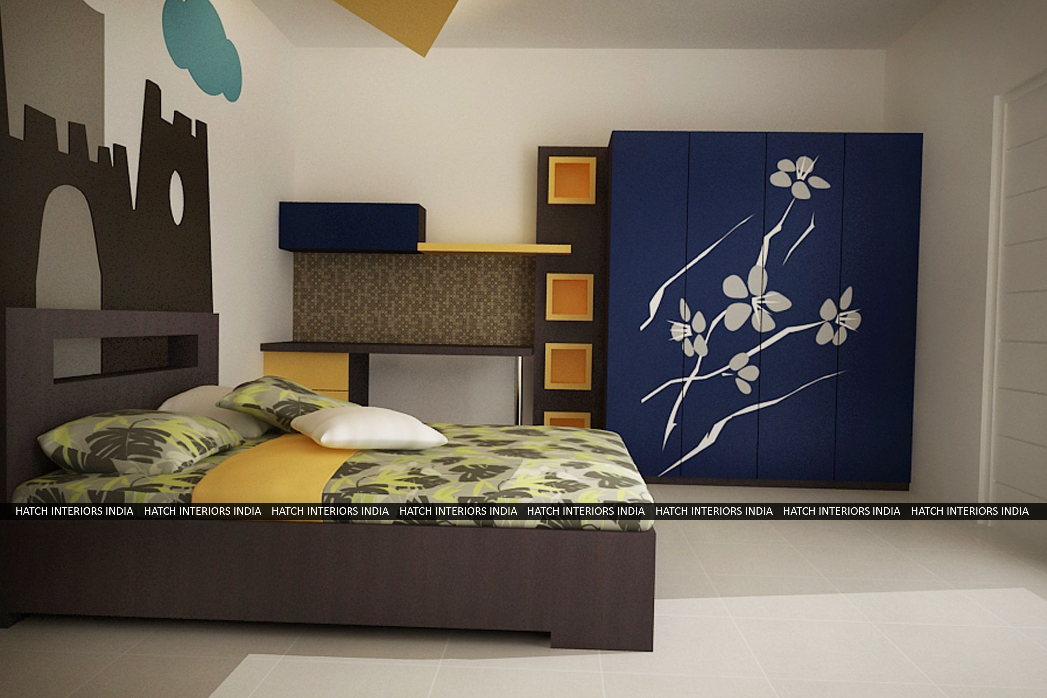 Hanging loft bed ideas  Pin by Hatch Interiors India on Kids Room  Pinterest  Kids rooms