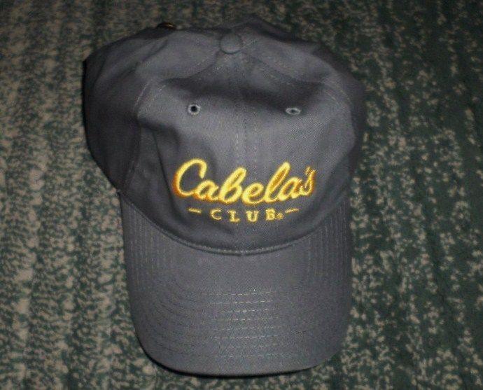25e86df24063e Men s Grey   Gold CABELA S CLUB Embroidered Logo Hat