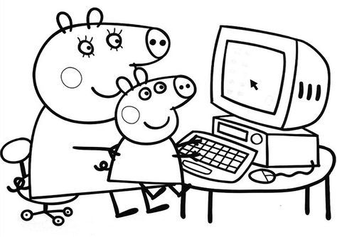 Peppa Pig Coloring In Pages Free