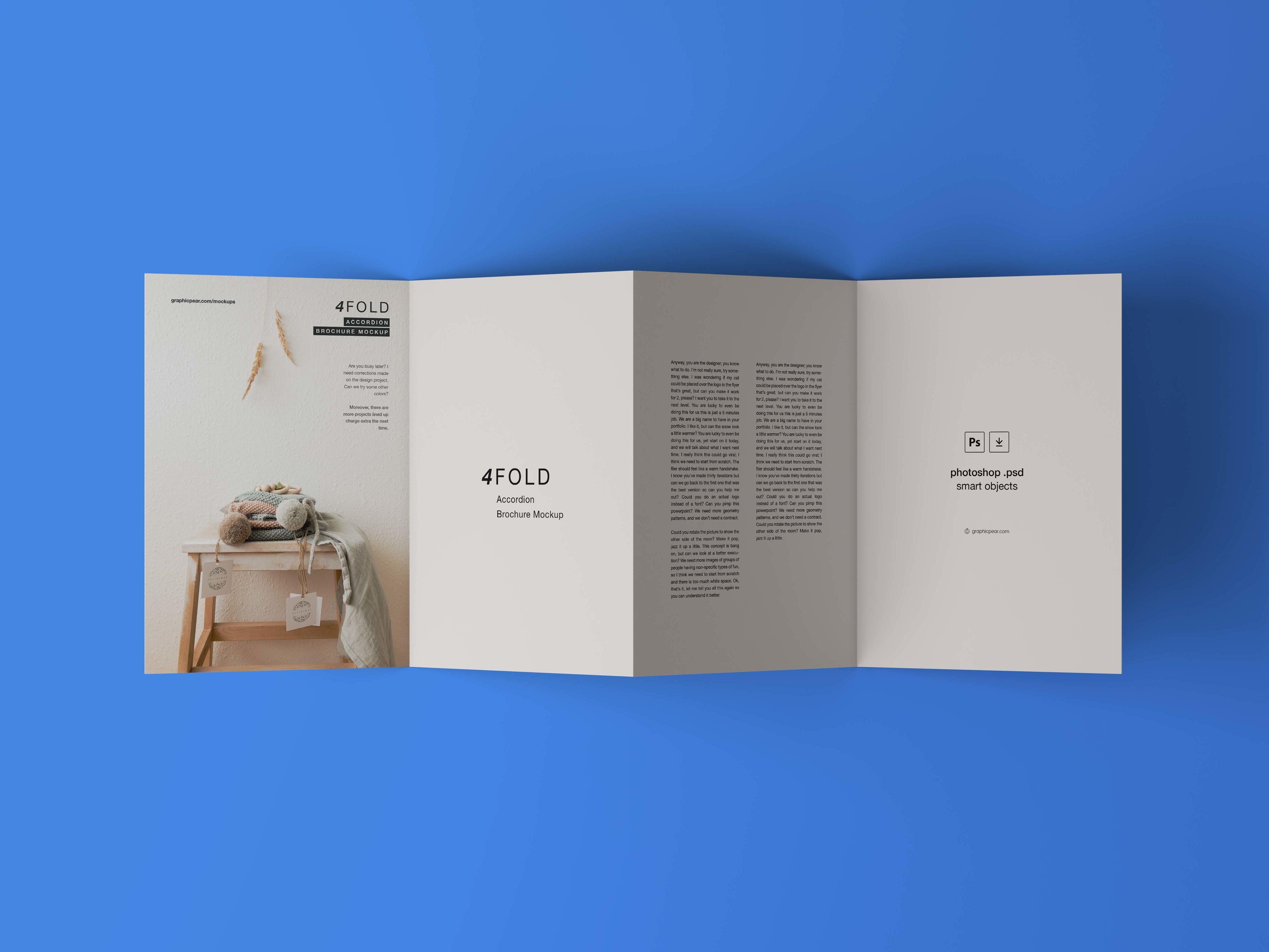 4 Fold Brochure Mockup Brochure Folds Brochures Mockups Brochure Layout