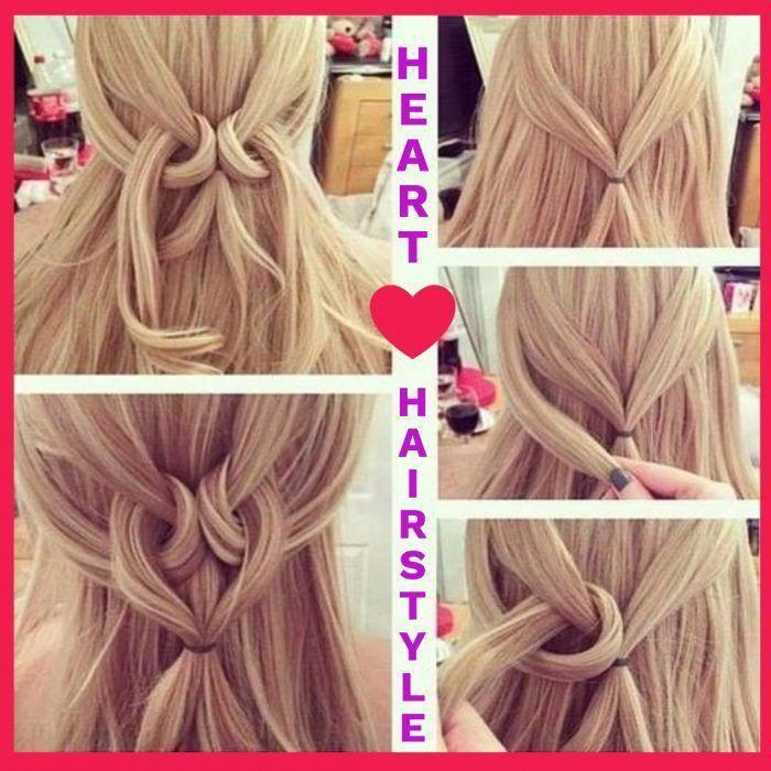 Half Up Half Down Heart Hairstyle