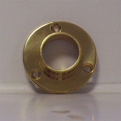 SignatureThings.com Brass Hardware Closed End Closet Rod Flange