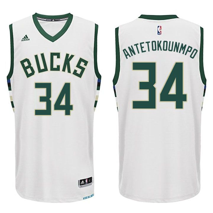 a7d9bddb7563 ... Black Alternate Swingman Jersey Giannis Antetokounmpo 34 2015-2016 New  Season Milwaukee Bucks White Swingman Jersey New Adidas NBA ...