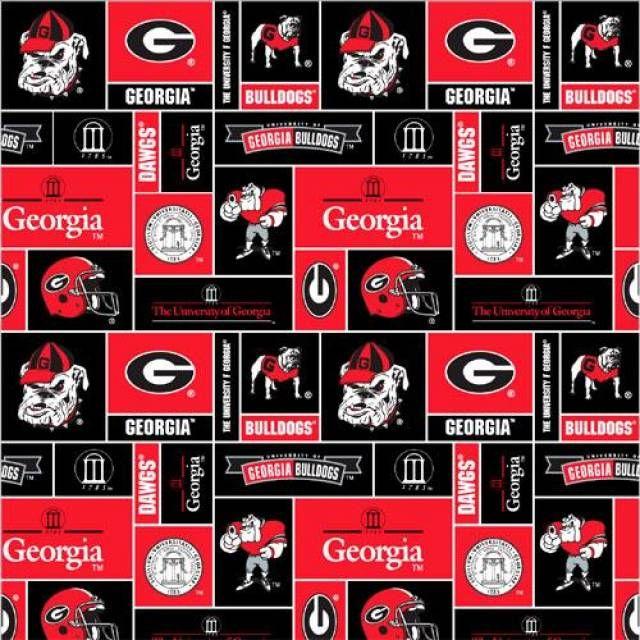 Georgia Bulldogs Vinyl Decal Sticker State of Georgia GA Silhouette 123