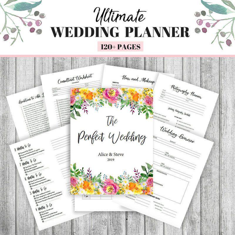 Wedding Planner Printable Wedding Planning Book Printable
