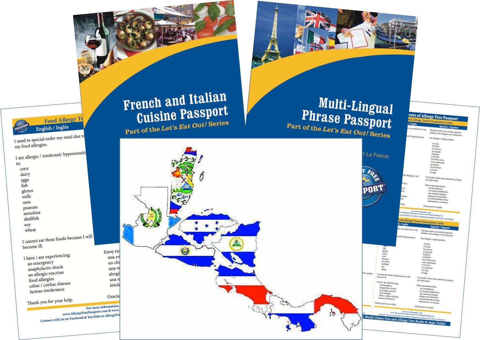 Central America Food Allergy Travel Kit (PAPER)