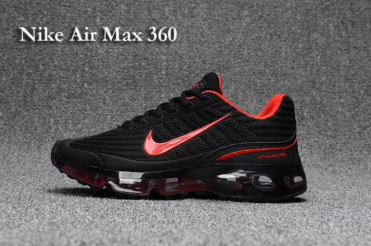 online store 387e7 138e3 Nike AIR MAX 360 KPU Women Men Black Red 36-47