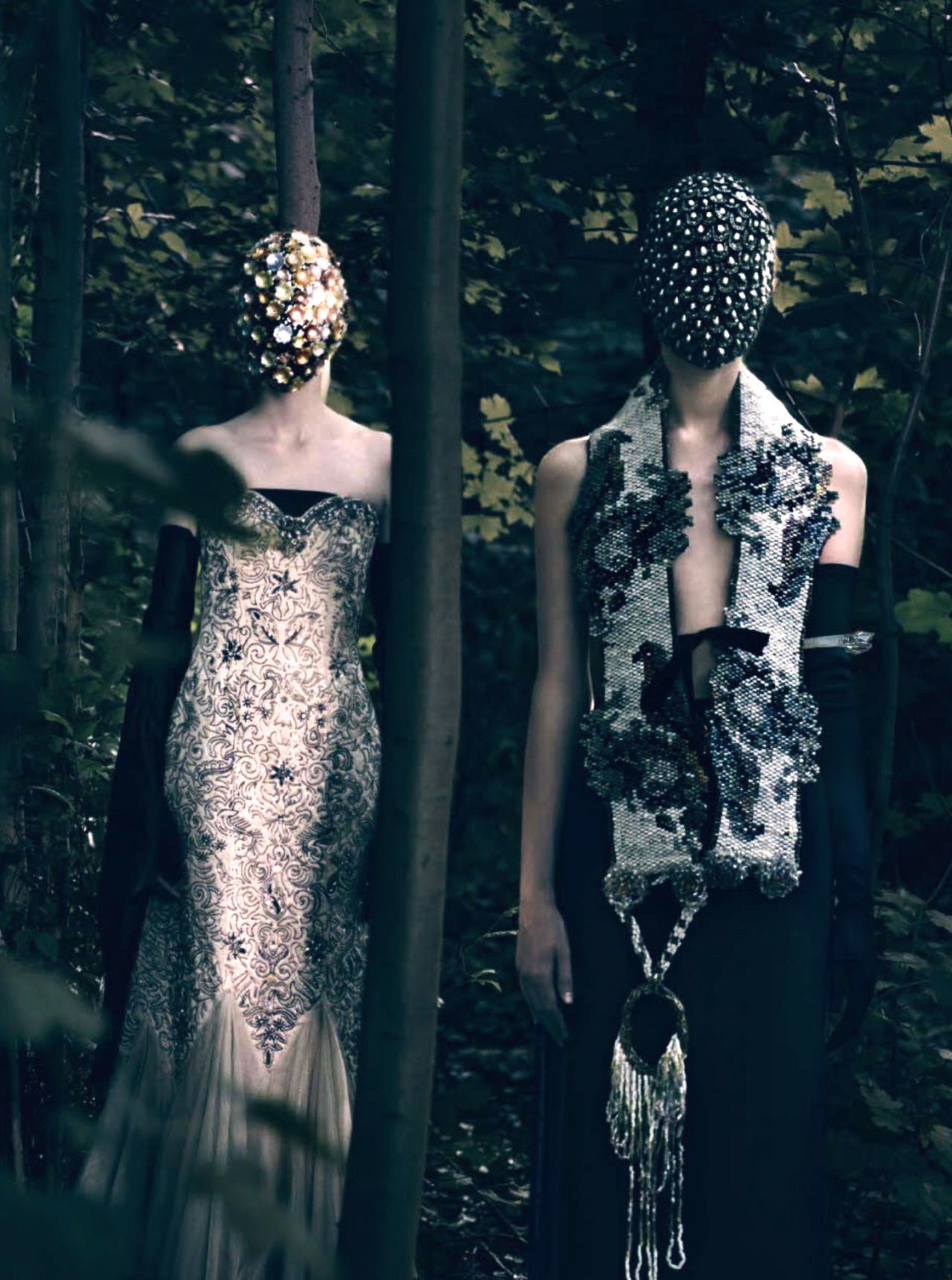 """pradafied:   """"The HC's Vagaries"""", models photographed by Paolo Roversi for Vogue Italia September 2013"""