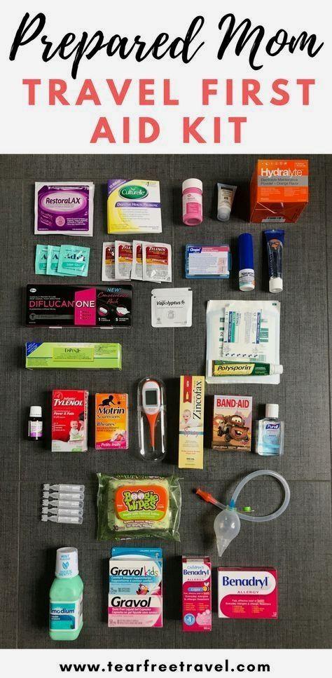 Mom Travel First Aid Kit - Tear Free Travel