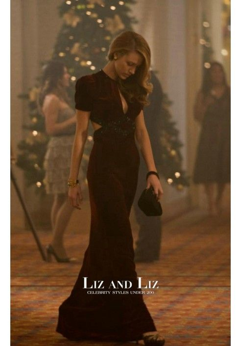 Blake Lively Burgundy Velvet Celebrity Prom Dress In Movie The age of  Adeline 12dc1a73c9d1