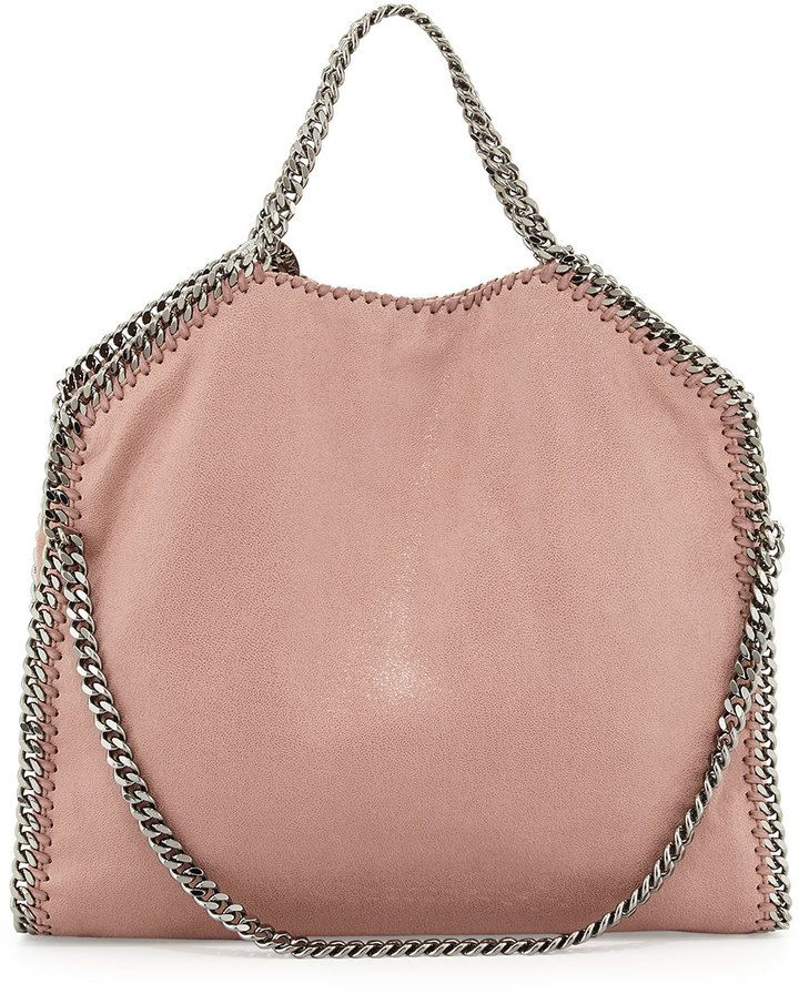 46e567ddd5282 Stella McCartney Falabella Fold-Over Tote Bag, Pink (Nude) on shopstyle.com