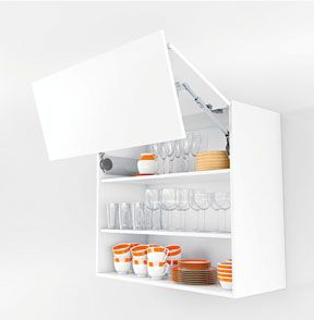 Wall Cabinet With Aventos Bi Fold Lift System For Crockery Kitchen Cabinets Models Cabinet