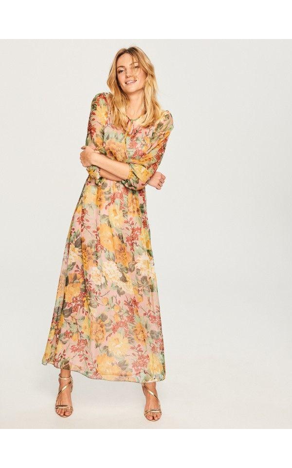 bc30ca97e9 Sukienka maxi w kwiaty