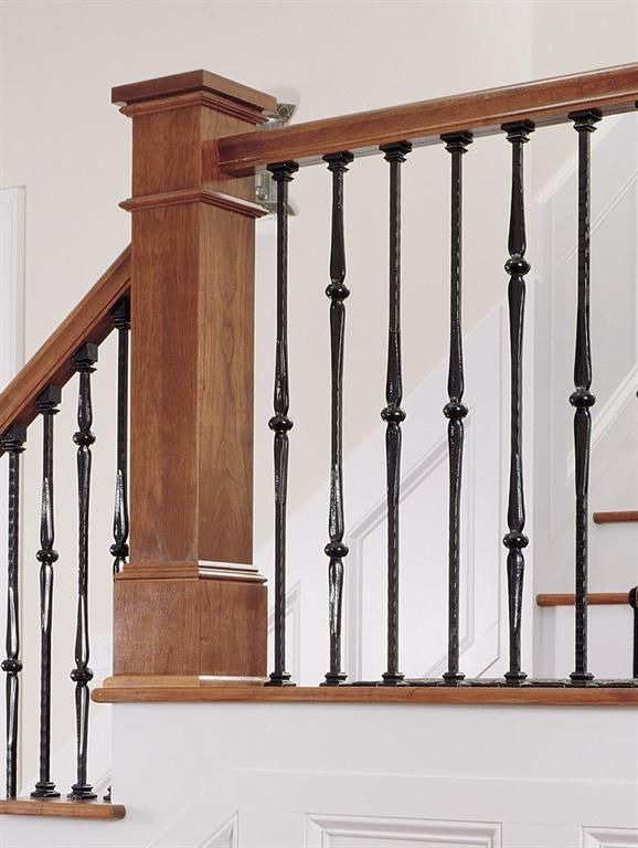Beautiful Forged Iron Stair Parts Are Available In: Flat Black And Rubbed Copper  Color Finishes. The Marsala Iron Balusters Have A Spoon Knuckle Design  Available In: ...