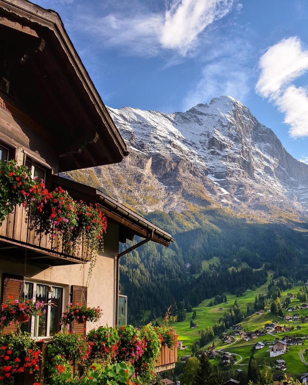 Photo by : @SennaRelax  Grindelwald is a village and municipality in the Interlaken-Oberhasli administrative district in the canton of Bern in Switzerland. Besides the village of Grindelwald the municipality also includes the settlements of Alpiglen Burglauenen Grund Itramen Mühlebach Schwendi Tschingelberg and Wargistal. Grindelwald village is located at 1034 m (3392 ft) above sea level in the Bernese Alps.  #Switzerland_Vacations #. Follow us on Facebook link in our bio by…